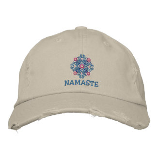 Yoga Namaste Embroidered Cap Embroidered Hats