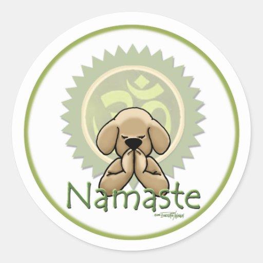 Yoga - Namaste Round Sticker