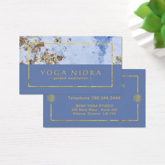 Yoga Nidra Business Cards