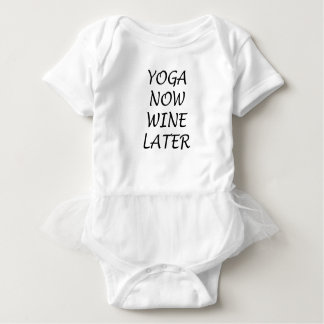 Yoga Now Wine Later Baby Bodysuit