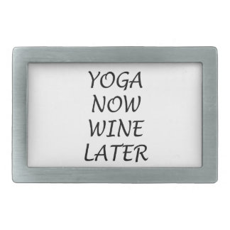 Yoga Now Wine Later Belt Buckles