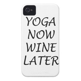 Yoga Now Wine Later Case-Mate iPhone 4 Case