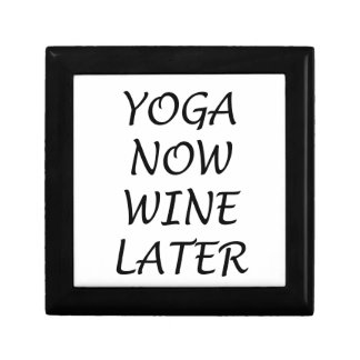 Yoga Now Wine Later Gift Box