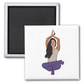 Yoga OM 5.1 Cm Square Magnet
