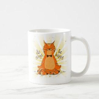 YOGA OM_be_happy Orange Cat Mug