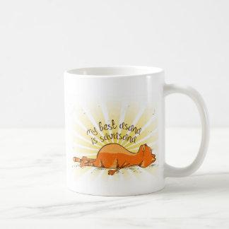 YOGA OM_best_asana Orange Cat Mug