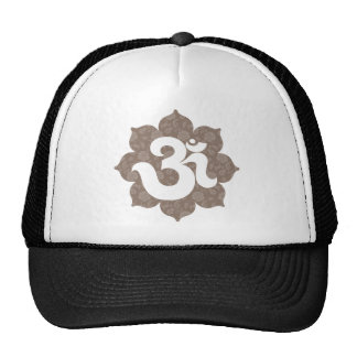 Yoga Om in Lotus brown gray Cap