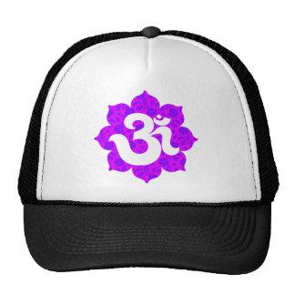 Yoga Om in Lotus purple pink Cap