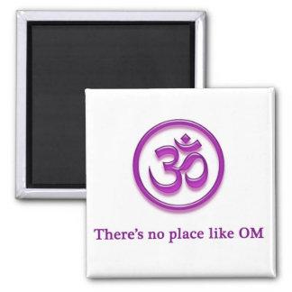 """Yoga Om magnet """"No Place Like Om"""""""