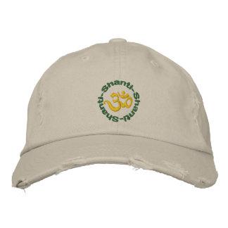 Yoga Om Shanti Shanti Shanti Embroidered Cap Embroidered Hat