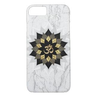 Yoga Om Symbol Black & Gold Lotus Mandala Marble iPhone 8/7 Case