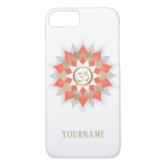 Yoga Om Symbol Gold & Orange Lotus Flower Mandala iPhone 8/7 Case