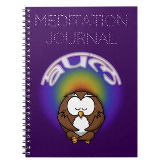 yoga owl notebook