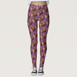 Yoga Pants Chocolate Sprinkle Donut Pattern