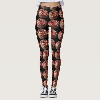 Yoga Pants Sprinkle Doughnut Leggings