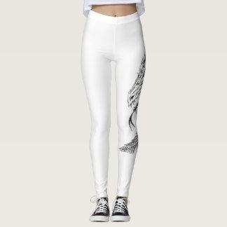 Yoga Pants with Dragon Motif