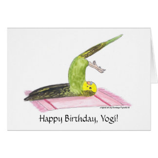 Yoga Parakeet Plow pose Card