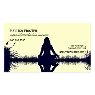 Yoga Pilates Meditation Business/Instructor Pack Of Standard Business Cards