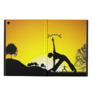 Yoga Pilates Session Out in Nature Personalized Cover For iPad Air