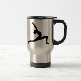 Yoga Pose Black Silhouette  Travel Mug