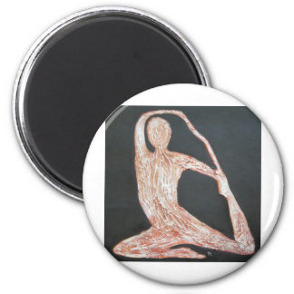 Yoga Pose Body Exercise Original Oil Painting Art Magnet
