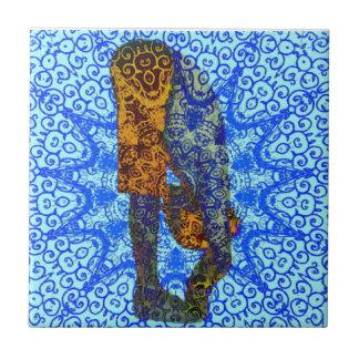Yoga Pose Ceramic Tile