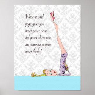 Yoga Pose for inner peace Poster