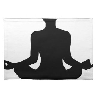 Yoga Pose Silhouette Placemat