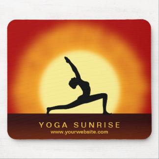 Yoga Pose Silhouette Sunrise Yoga Studio Mousepad