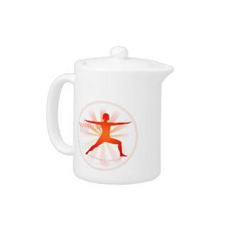 Yoga Pose Teapot (warrior pose)