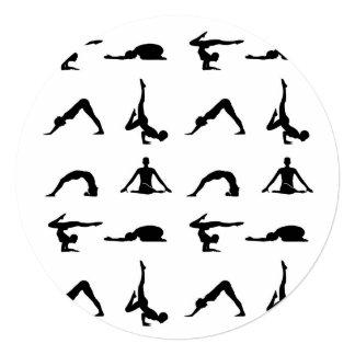 Yoga poses 13 cm x 13 cm square invitation card