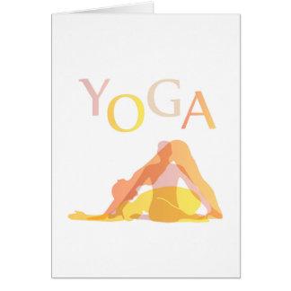 Yoga poses card