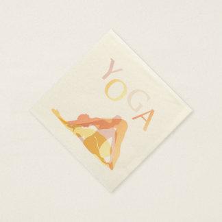 Yoga poses disposable serviette