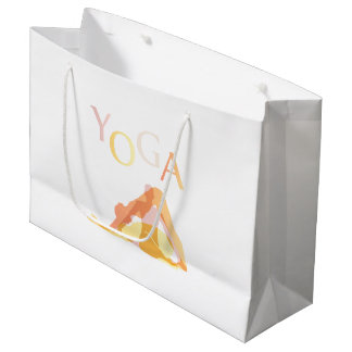 Yoga poses large gift bag