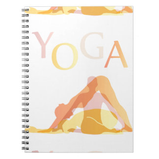 Yoga poses notebook