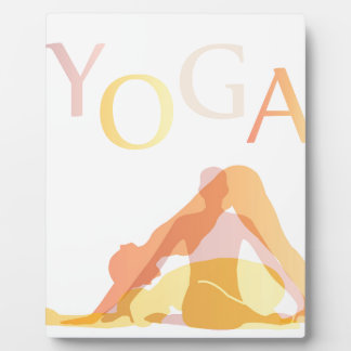 Yoga poses plaque