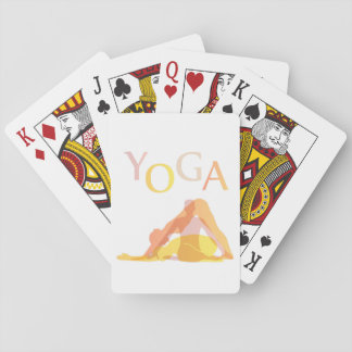 Yoga poses playing cards
