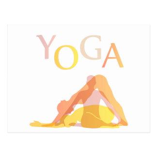 Yoga poses postcard