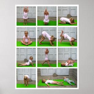 yoga poses posters  photo prints  zazzle au
