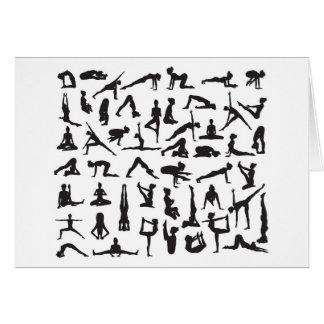 Yoga Poses Silhouettes Card