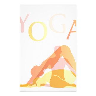 Yoga poses stationery