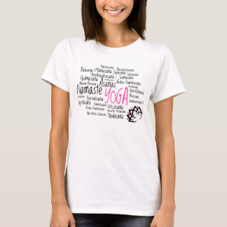 Yoga Positions and Poses Asanas in Sanskrit T-Shirt