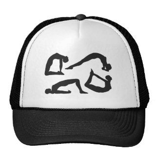 Yoga Positions Silhouettes Trucker Hat