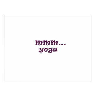 yoga post card