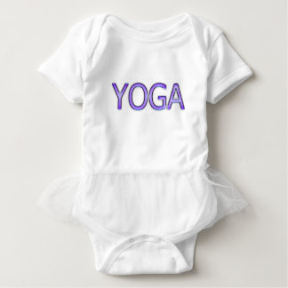 Yoga Purple Text Shiny Metallic Look Typography Baby Bodysuit