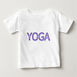Yoga Purple Text Shiny Metallic Look Typography Baby T-Shirt