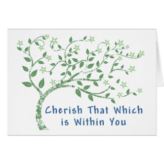 Yoga Quote: Cherish That Which is Within You Greeting Card
