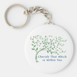 Yoga Quote: Cherish That Which is Within You Key Ring