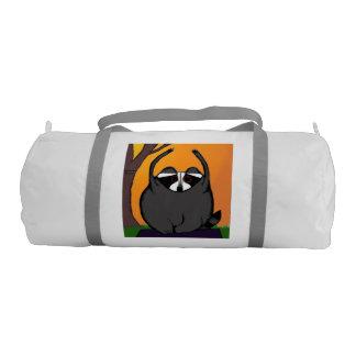 Yoga Raccoon Duffel Bag Gym Duffel Bag