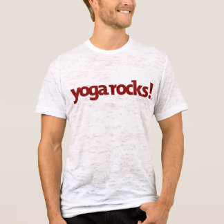 Yoga Rocks Men's Burnout Tee